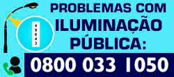 Telefone para problemas relacionados a iluminação pública